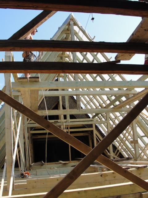 Új tetőszerkezet építése 1.