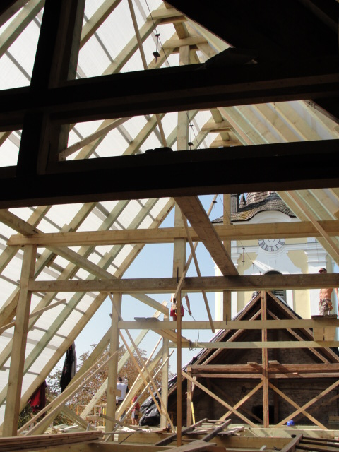 Új tetőszerkezet építése 2.