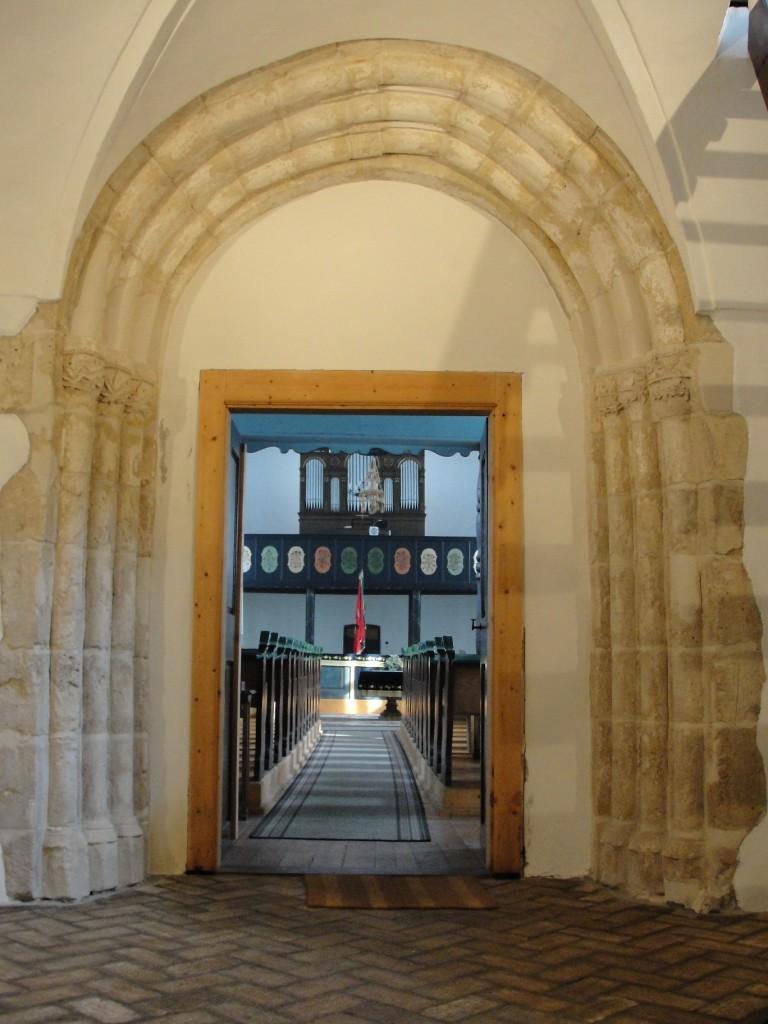 A templom bejárata.