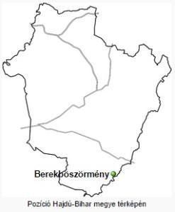A település helye a megyében.
